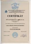 Certifikát pro provádění sanací zděných a betonových konstrukcí